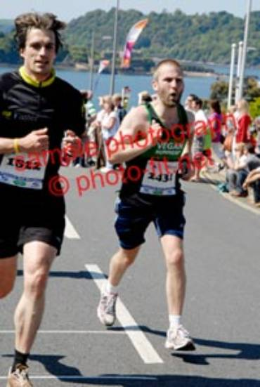 Astonishingly fast time? & in a VRUK vest! Plymouth Half