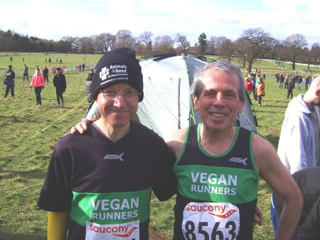 Peter Simpson and David Campbell before the English National XC