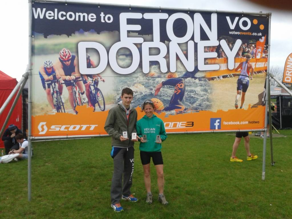 Stephen and Verna Burgess Eton Dorney Finish