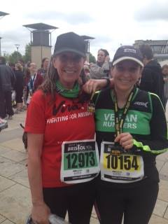 Dorienne and Carla at the Bristol 10k
