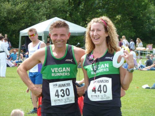 Dave Arnold and Ros Webb Downlands Dash 2014