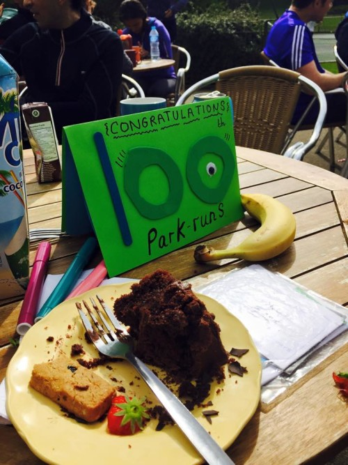 Dave's 100th parkrun card