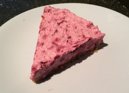 Raw Black Currant Cheesecake