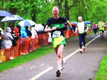 Andy Burton at the Watford 10K, 7/5/12