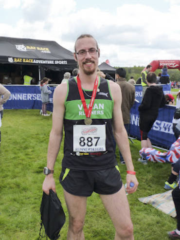 Chris' PB at the Bedgebury 10K – 12/05/12