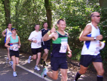 Burn-up at Burnham Beeches Half Marathon, 19/8/12