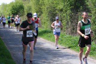Nik W at Chalgrove 10k on Monday