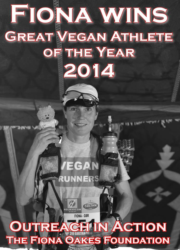 Fiona Oakes – Great Vegan Athlete 2014