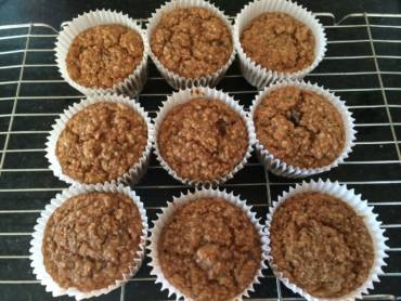 Apple-Spice Hemp Muffins