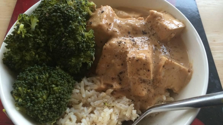 Tofu in Cashew Ginger Sauce