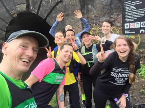 London Vegan Runners Group Selfie